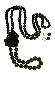 Pam Jewelry Black Onyx Necklace or Bracelet and Earrings