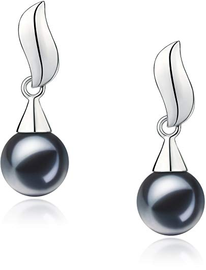 Edith 7-8mm AAAA Quality Freshwater 925 Sterling Silver Cultured Pearl Earring Pair